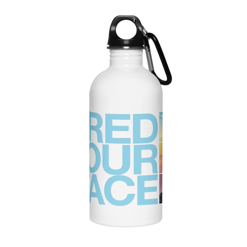Shred Your Face (Blu) in Water Bottle by CRANK. outdoors + music lifestyle clothing