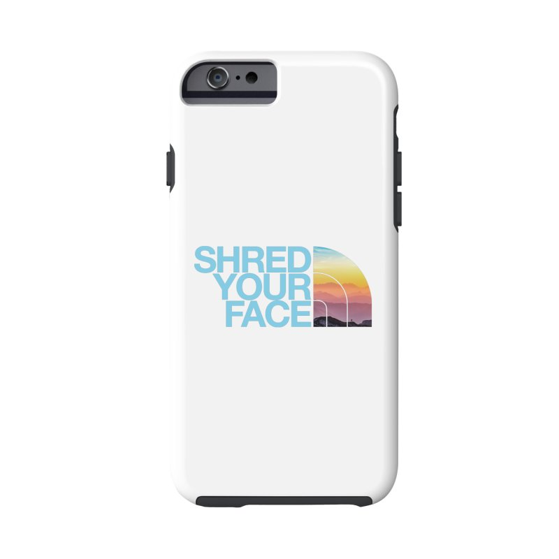 Shred Your Face (Blu) Accessories Phone Case by CRANK. outdoors + music lifestyle clothing