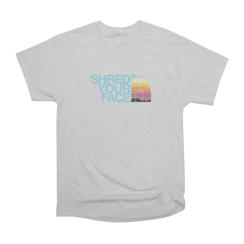 Shred Your Face (Blu) Men's T-Shirt by CRANK. outdoors + music lifestyle clothing