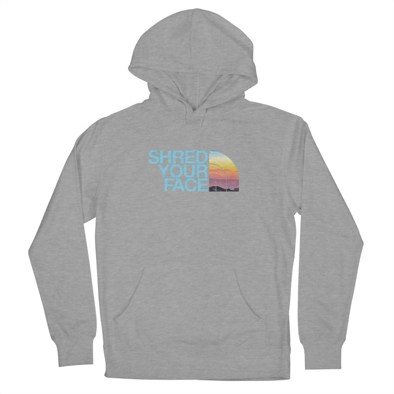 Shred Your Face (Blu) Men's Pullover Hoody by CRANK. outdoors + music lifestyle clothing