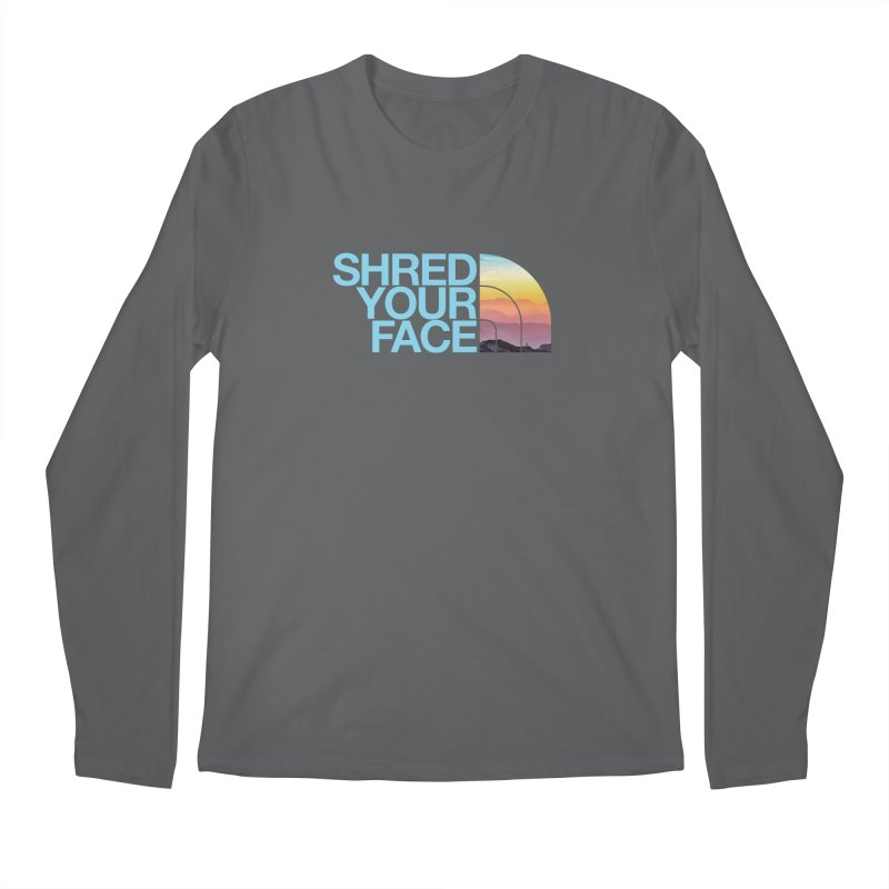 Shred Your Face (Blu) Men's Longsleeve T-Shirt by CRANK. outdoors + music lifestyle clothing