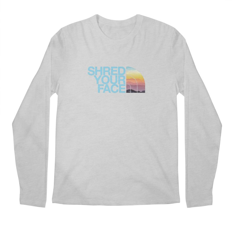 Shred Your Face (Blu) Men's Regular Longsleeve T-Shirt by CRANK. outdoors + music lifestyle clothing