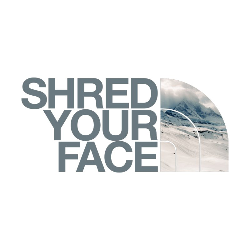 Shred Your Face (grey) Accessories Bag by CRANK. outdoors + music lifestyle clothing