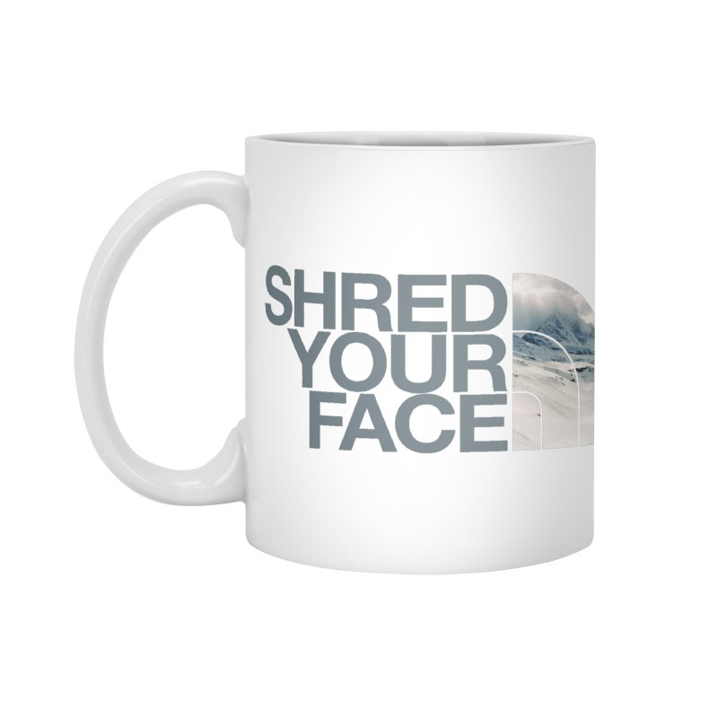 Shred Your Face (grey) Accessories Standard Mug by CRANK. outdoors + music lifestyle clothing