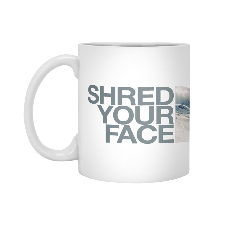 Shred Your Face (grey) Accessories Mug by CRANK. outdoors + music lifestyle clothing