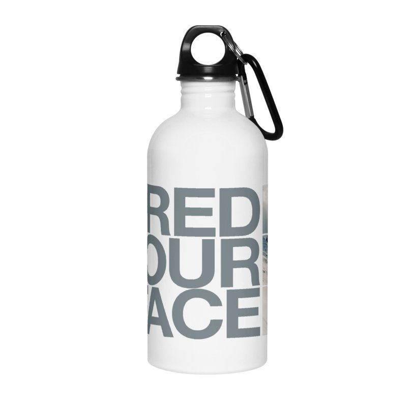 Shred Your Face (grey) Accessories Water Bottle by CRANK. outdoors + music lifestyle clothing
