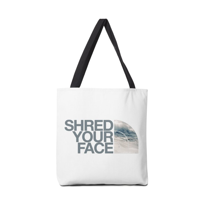 Shred Your Face (grey) in Tote Bag by CRANK. outdoors + music lifestyle clothing