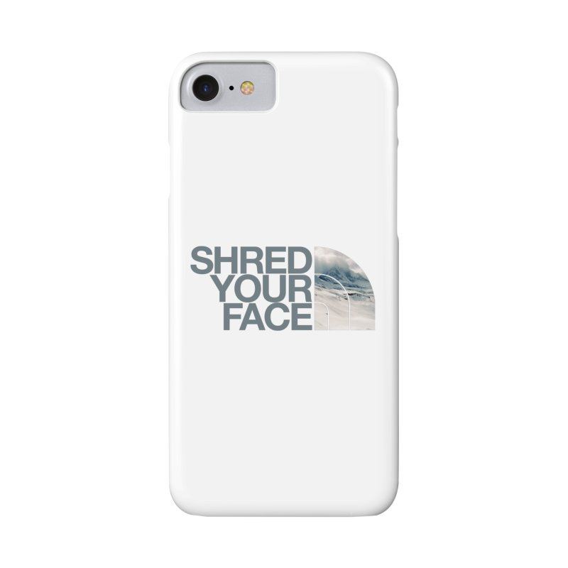Shred Your Face (grey) Accessories Phone Case by CRANK. outdoors + music lifestyle clothing