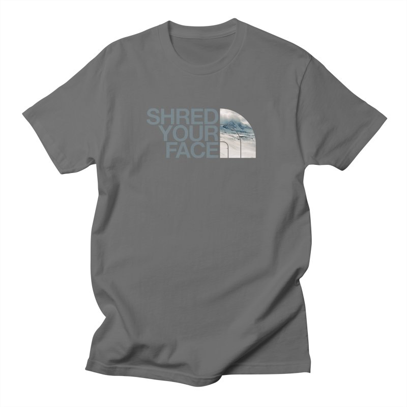 Shred Your Face (grey) Women's T-Shirt by CRANK. outdoors + music lifestyle clothing
