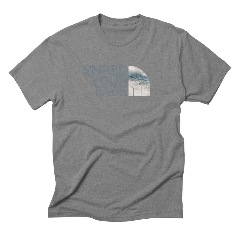 Shred Your Face (grey) Men's T-Shirt by CRANK. outdoors + music lifestyle clothing