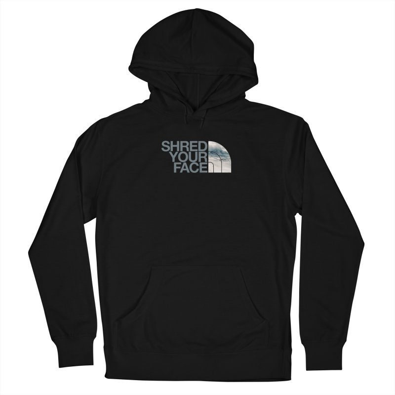 Shred Your Face (grey) Men's Pullover Hoody by CRANK. outdoors + music lifestyle clothing