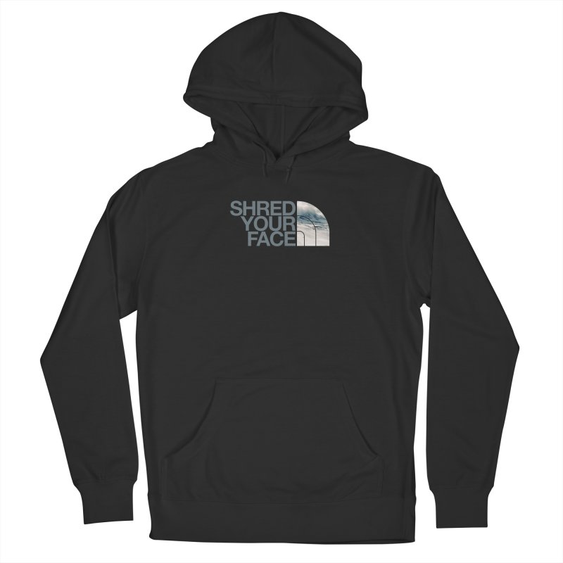 Shred Your Face (grey) Women's Pullover Hoody by CRANK. outdoors + music lifestyle clothing