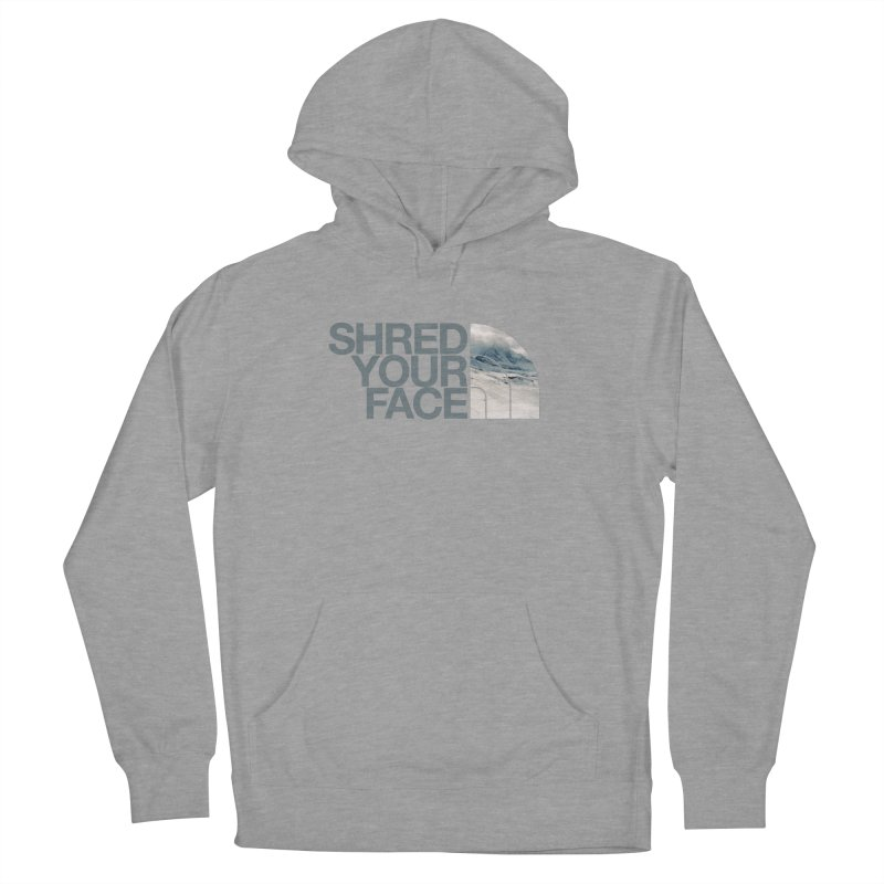 Shred Your Face (grey) Men's French Terry Pullover Hoody by CRANK. outdoors + music lifestyle clothing