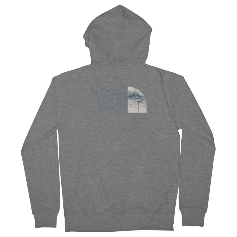Shred Your Face (grey) Women's French Terry Zip-Up Hoody by CRANK. outdoors + music lifestyle clothing