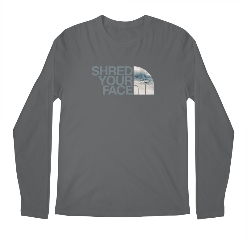 Shred Your Face (grey) Men's Regular Longsleeve T-Shirt by CRANK. outdoors + music lifestyle clothing