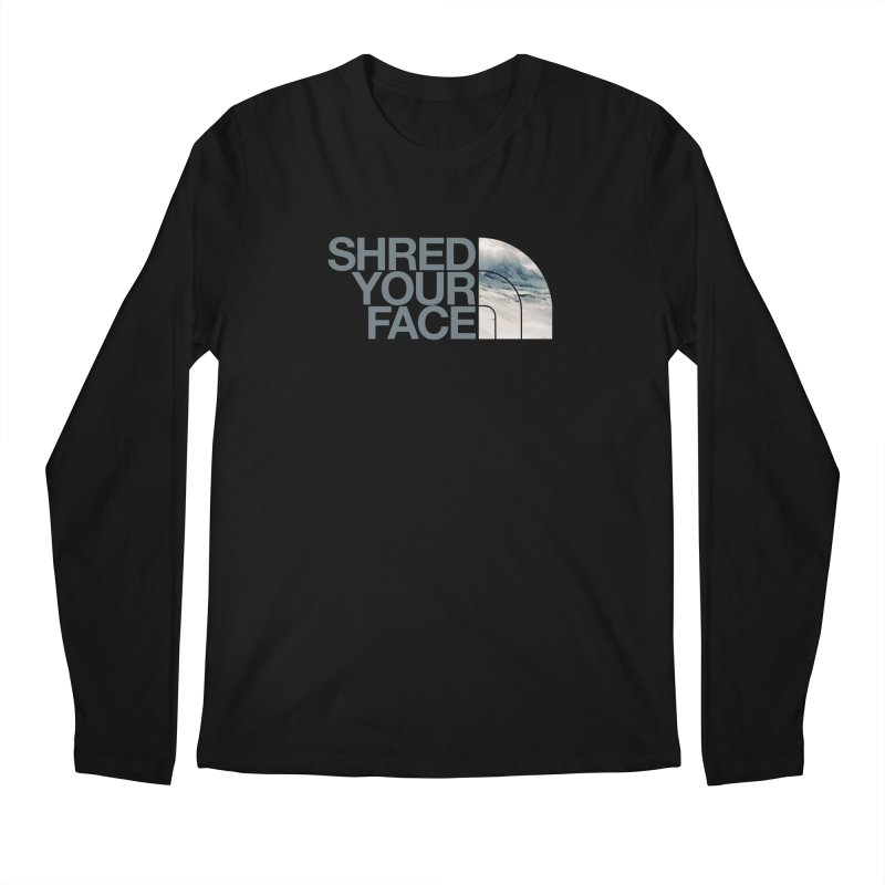 Shred Your Face (grey) Men's Longsleeve T-Shirt by CRANK. outdoors + music lifestyle clothing
