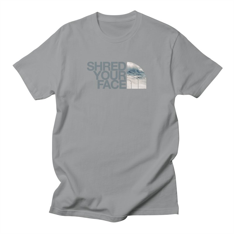 Shred Your Face (grey) Women's Unisex T-Shirt by CRANK. outdoors + music lifestyle clothing