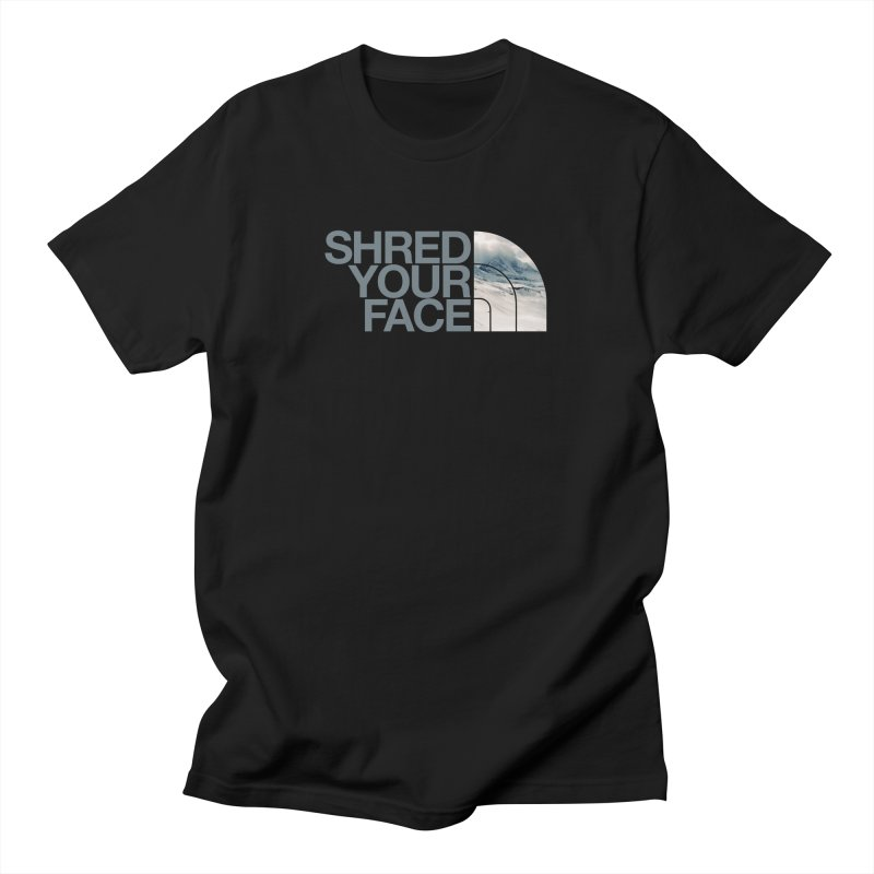 Shred Your Face (grey) Men's Regular T-Shirt by CRANK. outdoors + music lifestyle clothing