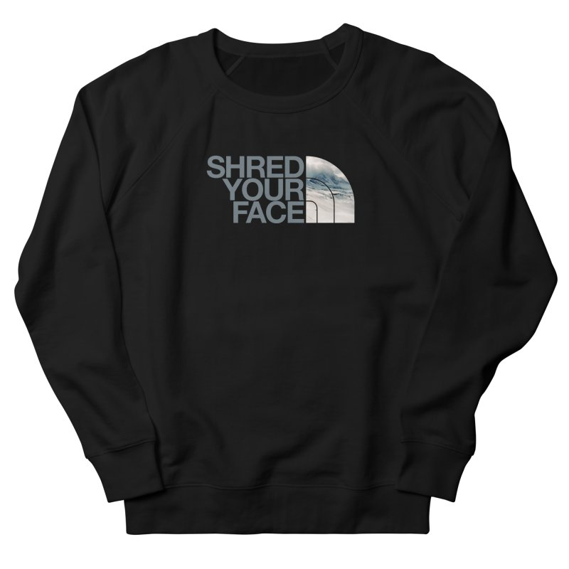 Shred Your Face (grey) Men's Sweatshirt by CRANK. outdoors + music lifestyle clothing