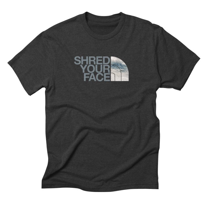 Shred Your Face (grey) Men's Triblend T-Shirt by CRANK. outdoors + music lifestyle clothing
