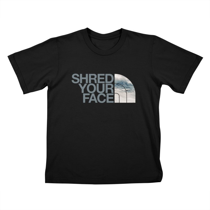 Shred Your Face (grey) Kids Toddler T-Shirt by CRANK. outdoors + music lifestyle clothing