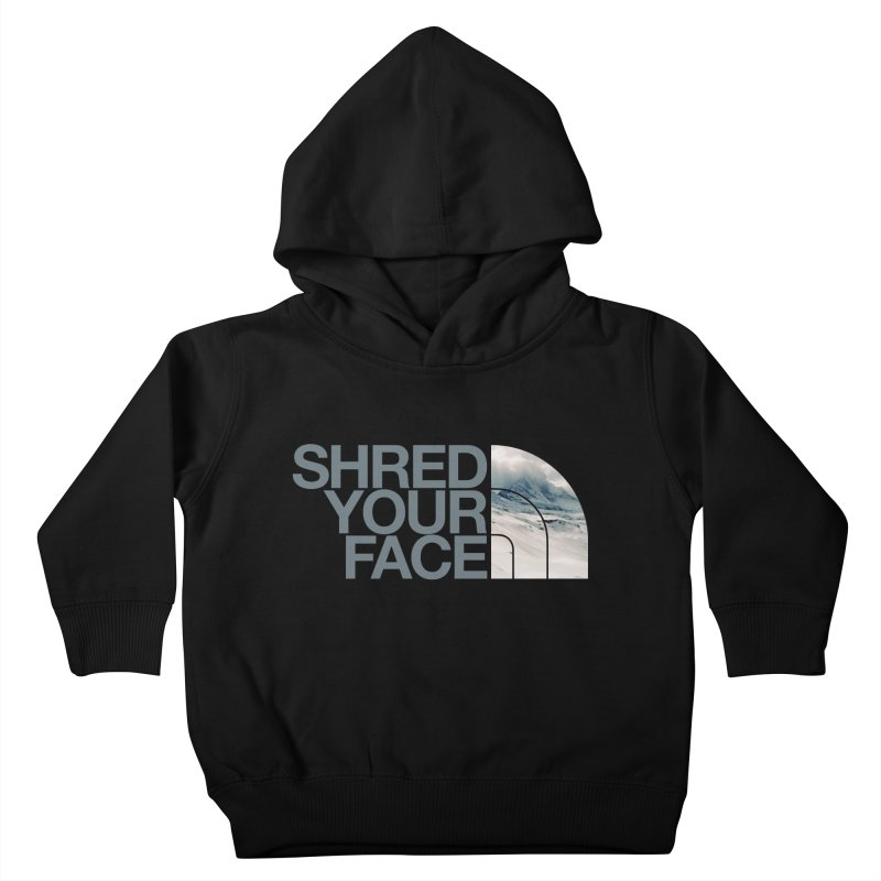 Shred Your Face (grey) Kids Toddler Pullover Hoody by CRANK. outdoors + music lifestyle clothing