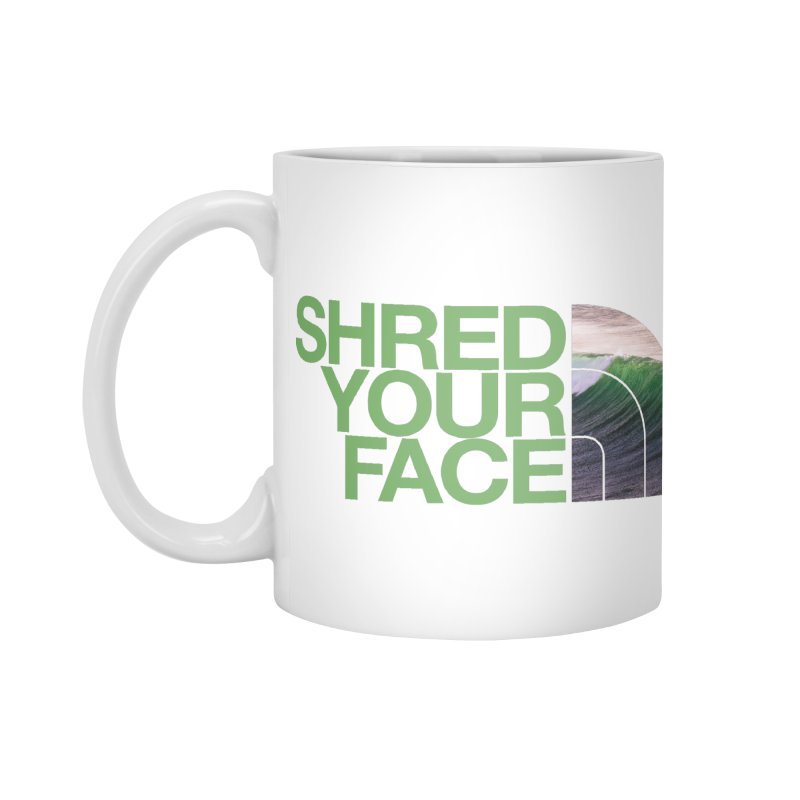 Shred Your Face (green) Accessories Standard Mug by CRANK. outdoors + music lifestyle clothing