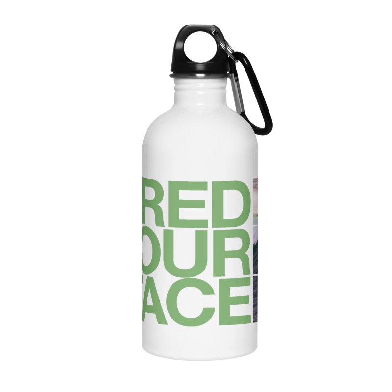 Shred Your Face (green) Accessories Water Bottle by CRANK. outdoors + music lifestyle clothing
