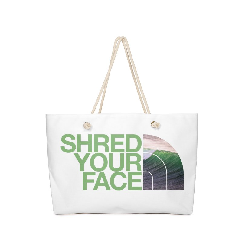 Shred Your Face (green) Accessories Bag by CRANK. outdoors + music lifestyle clothing