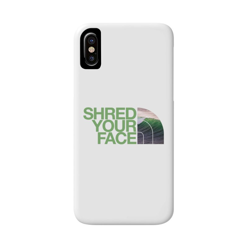 Shred Your Face (green) Accessories Phone Case by CRANK. outdoors + music lifestyle clothing