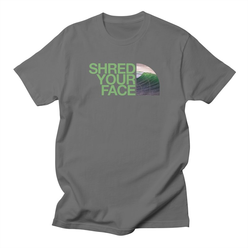 Shred Your Face (green) in Men's Regular T-Shirt Asphalt by CRANK. outdoors + music lifestyle clothing