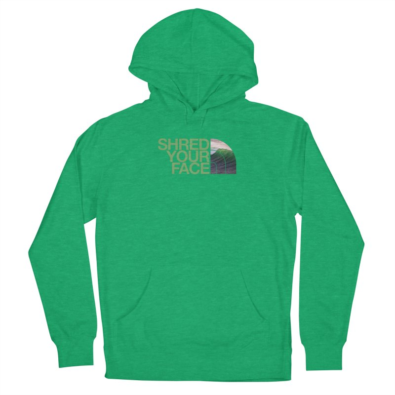 Shred Your Face (green) Men's Pullover Hoody by CRANK. outdoors + music lifestyle clothing