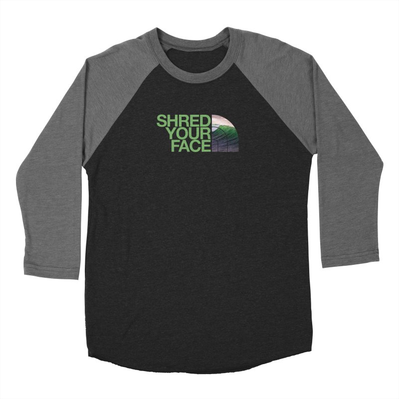 Shred Your Face (green) Men's Longsleeve T-Shirt by CRANK. outdoors + music lifestyle clothing
