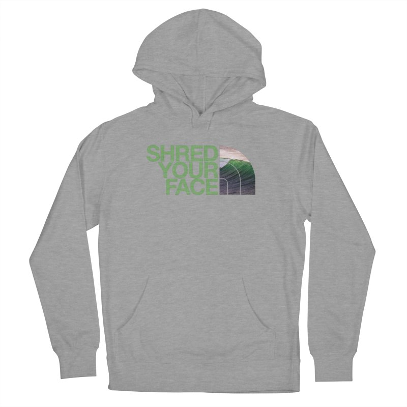 Shred Your Face (green) Men's French Terry Pullover Hoody by CRANK. outdoors + music lifestyle clothing
