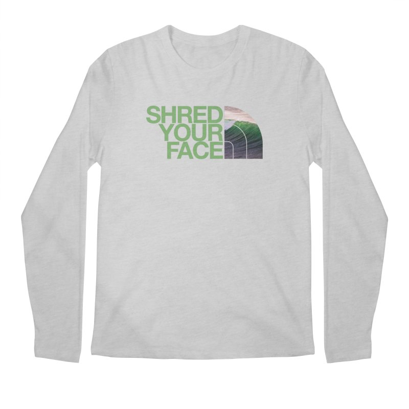 Shred Your Face (green) Men's Regular Longsleeve T-Shirt by CRANK. outdoors + music lifestyle clothing