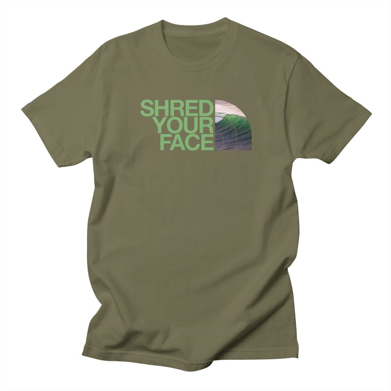 Shred Your Face (green) Women's Regular Unisex T-Shirt by CRANK. outdoors + music lifestyle clothing