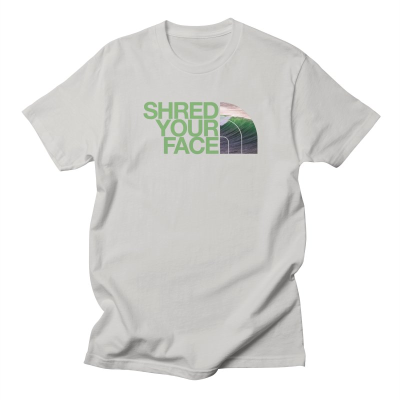 Shred Your Face (green) Men's Regular T-Shirt by CRANK. outdoors + music lifestyle clothing