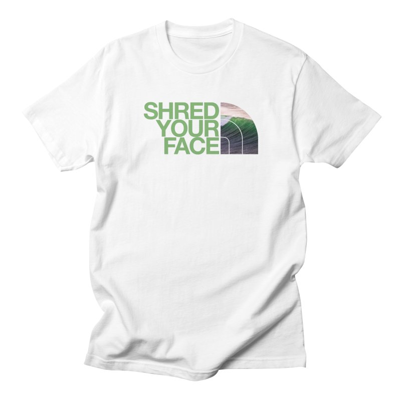 Shred Your Face (green) Men's T-Shirt by CRANK. outdoors + music lifestyle clothing