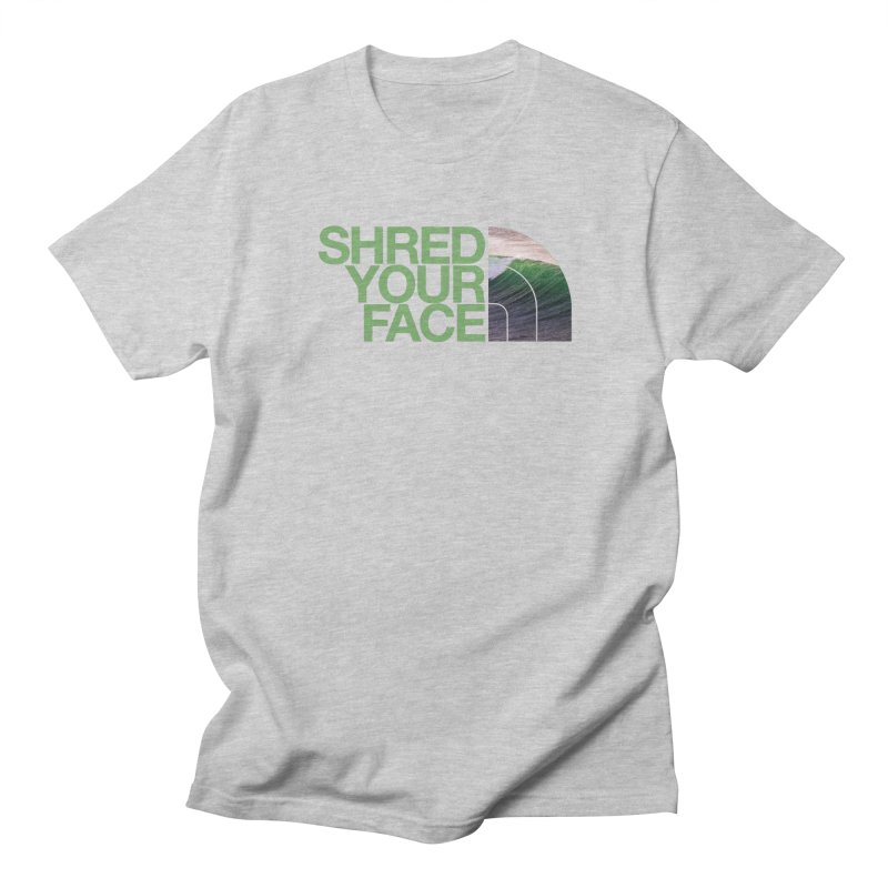 Shred Your Face (green) Women's Unisex T-Shirt by CRANK. outdoors + music lifestyle clothing