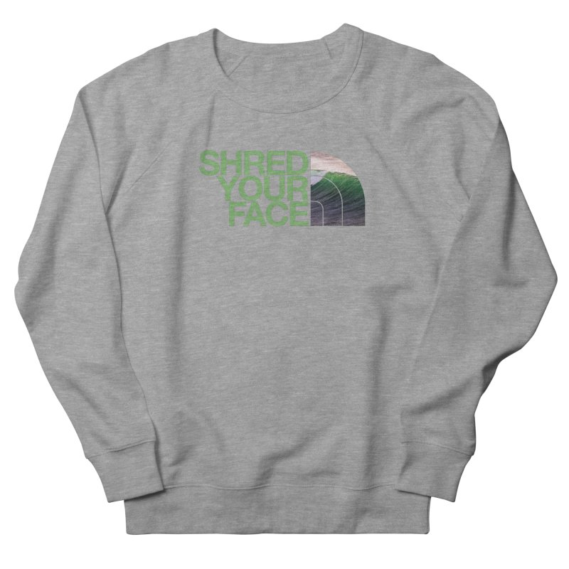 Shred Your Face (green) Men's Sweatshirt by CRANK. outdoors + music lifestyle clothing