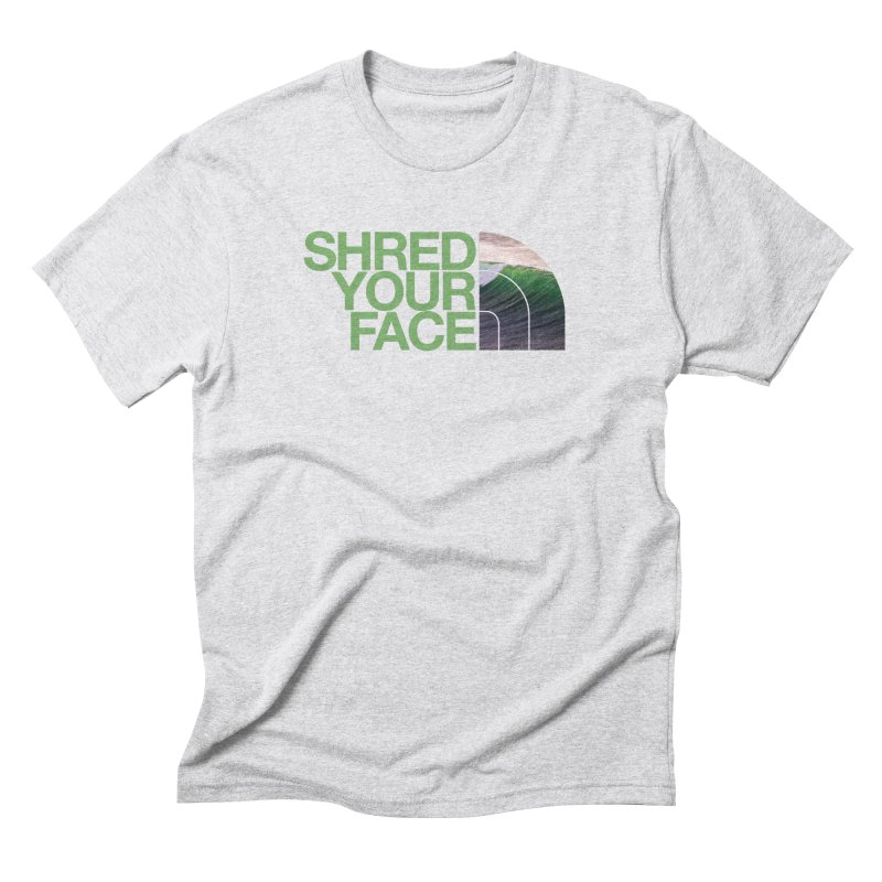 Shred Your Face (green) Men's Triblend T-Shirt by CRANK. outdoors + music lifestyle clothing