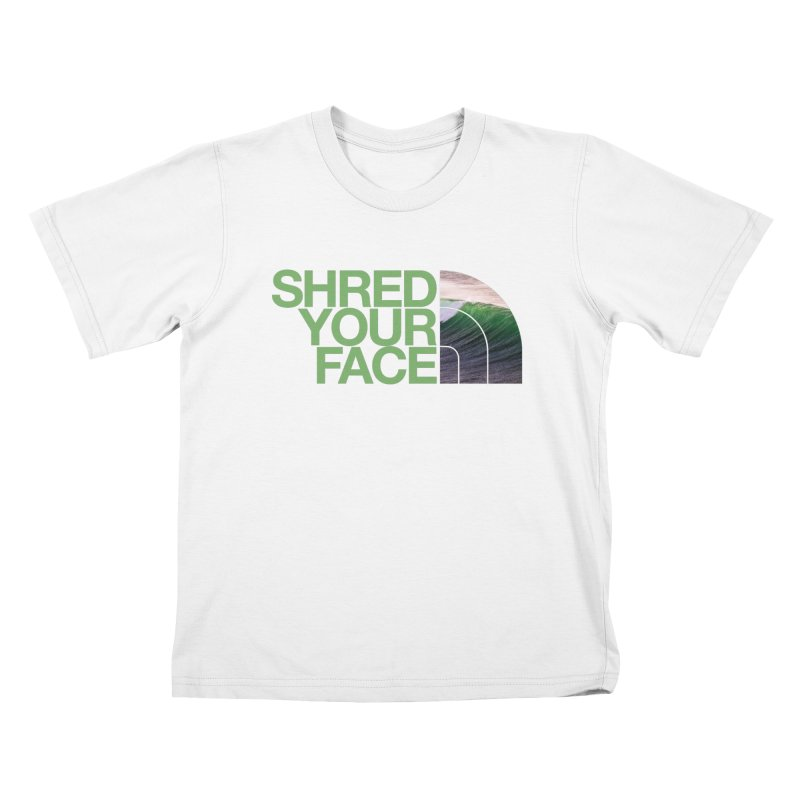 Shred Your Face (green) Kids Toddler T-Shirt by CRANK. outdoors + music lifestyle clothing