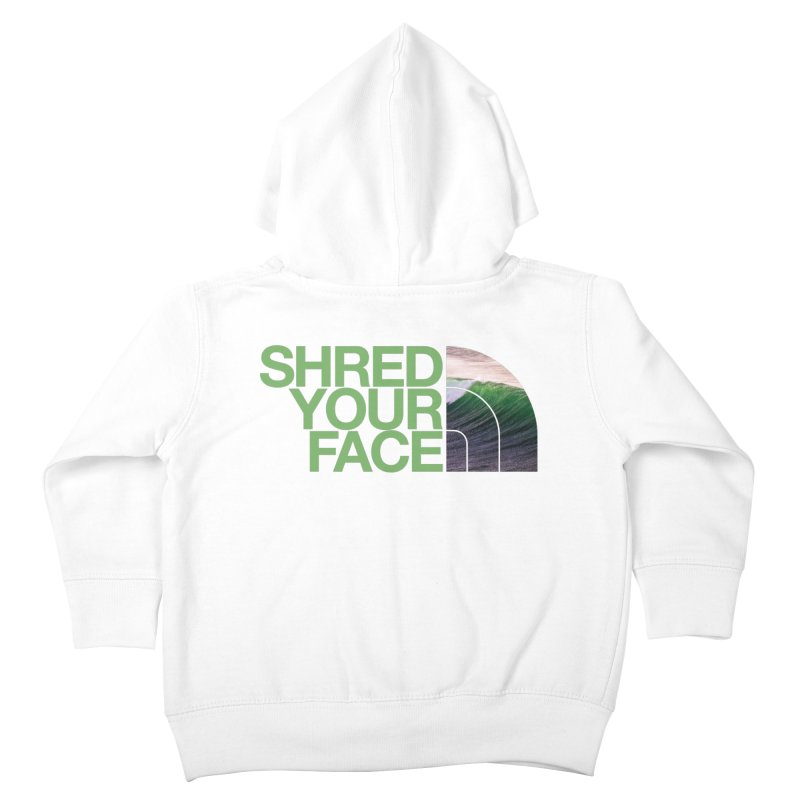 Shred Your Face (green) Kids Toddler Zip-Up Hoody by CRANK. outdoors + music lifestyle clothing