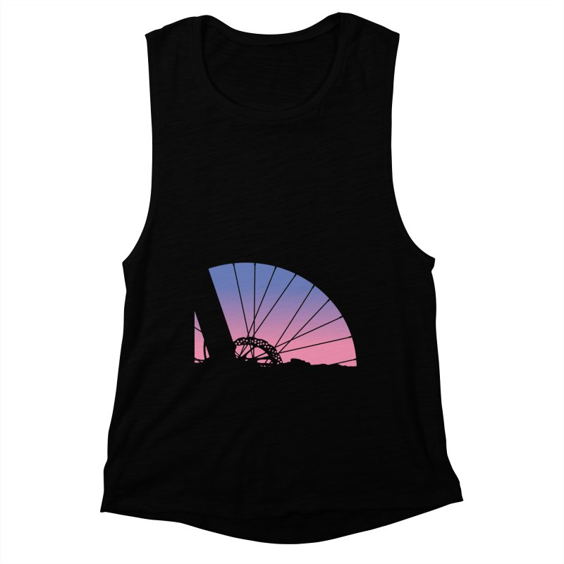 Sky Has Spoken Women's Muscle Tank by CRANK. outdoors + music lifestyle clothing
