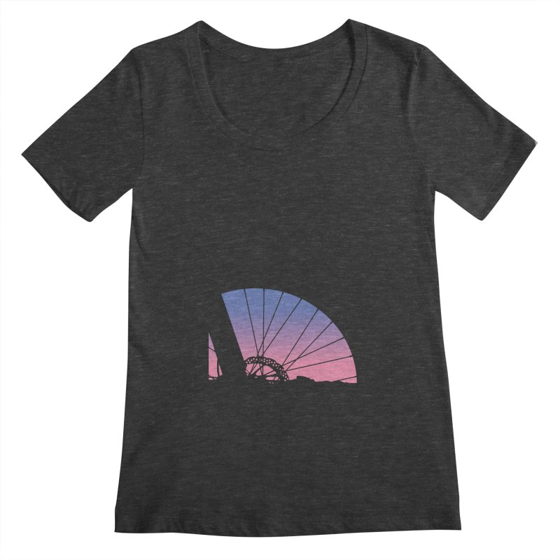 Sky Has Spoken Women's Scoopneck by CRANK. outdoors + music lifestyle clothing