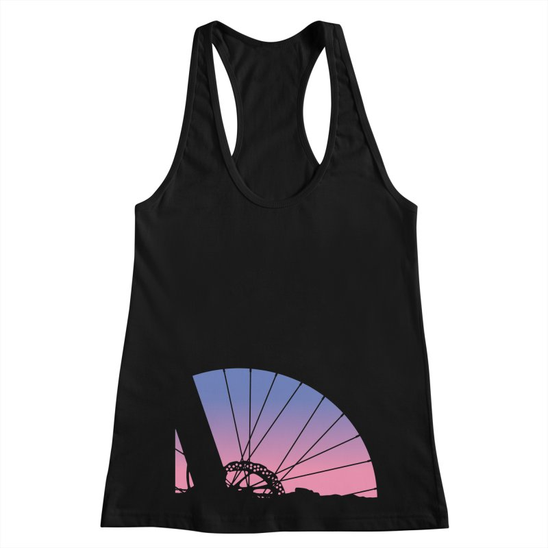 Sky Has Spoken Women's Racerback Tank by CRANK. outdoors + music lifestyle clothing