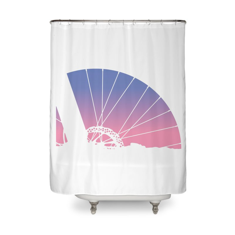 Sky Has Spoken Home Shower Curtain by CRANK. outdoors + music lifestyle clothing