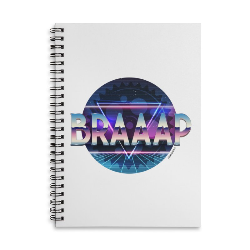 BRAAAP Chrome Accessories Lined Spiral Notebook by CRANK. outdoors + music lifestyle clothing