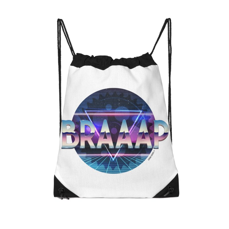 BRAAAP Chrome Accessories Drawstring Bag Bag by CRANK. outdoors + music lifestyle clothing