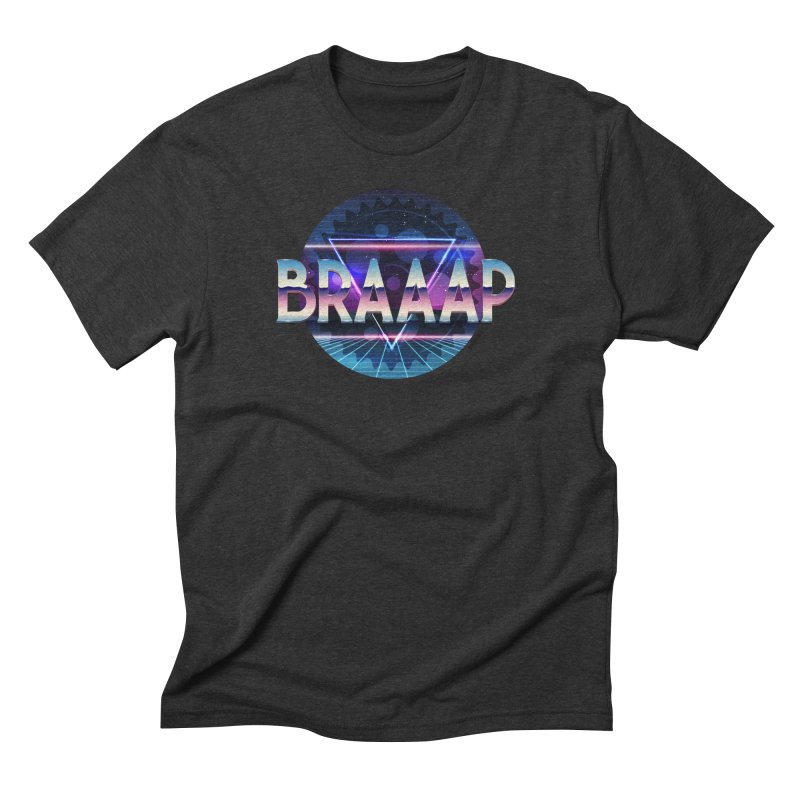 BRAAAP Chrome in Men's Triblend T-Shirt Heather Onyx by CRANK. outdoors + music lifestyle clothing